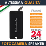 Apple iPhone 6 - 6G - Display Retina con Fotocamera - Speaker - Sensori - Nero