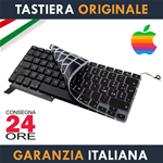 "Tastiera Originale Apple MacBook Pro 15"" Pollici A1286 Italiana dal 2009 al 2012 + Protezione Ultra Slim"